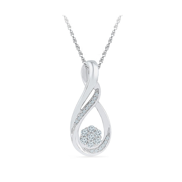 Floral Glimpse Diamond Pendant