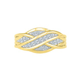 Ribbon Ripples Diamond Cocktail Ring