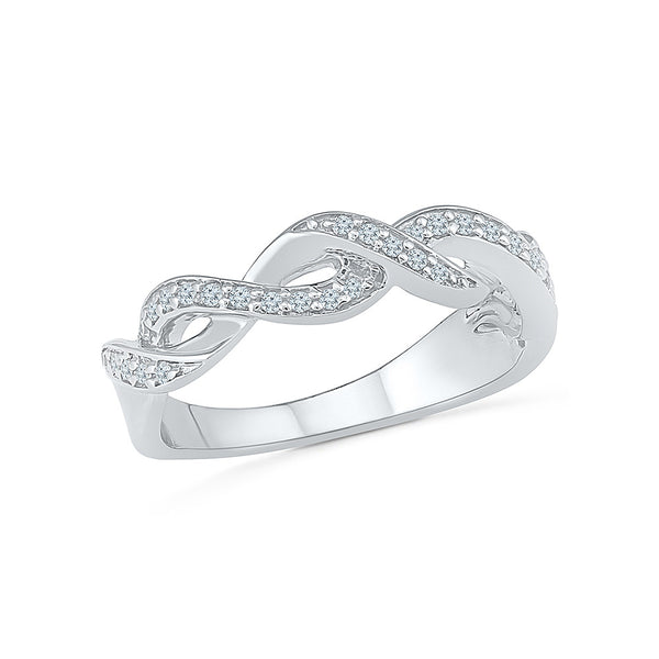 Luxurious Knot Everyday Diamond Ring