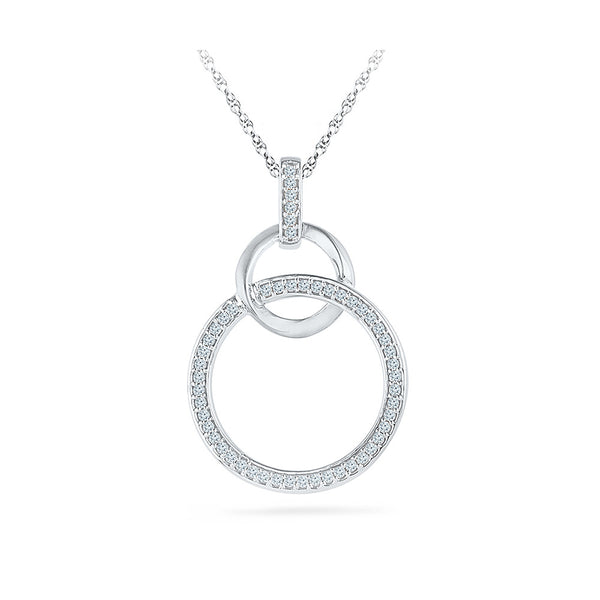 Circular Linked Diamond Pendant in 14k and 18k Gold online for women