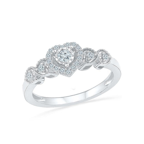 Silver Promise Diamond Ring