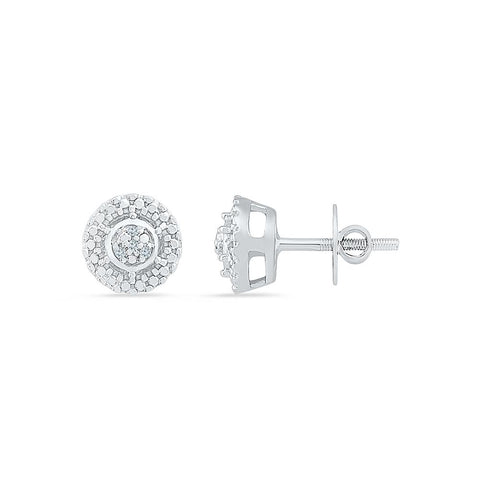 Petite Round Diamond Stud Earrings in 92.5 Sterling Silver for women online