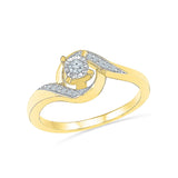 14kt / 18kt white and yellow gold Ambrosial Diamond Engagement Ring in Prong setting online for women