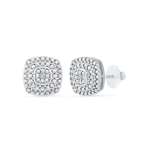 Aerial Diamond Studs in 92.5 Sterling Silver for women online
