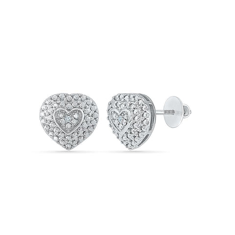 Mirth Diamond Studs in 92.5 Sterling Silver for women online