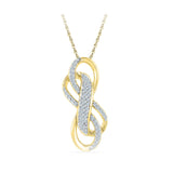 Twin Infinity Diamond Pendant in 14k and 18k Gold online for women