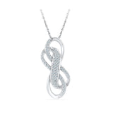 Twin Infinity Diamond Pendant