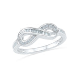 14kt / 18kt white and yellow gold Fine Infinity Everyday Diamond Ring in PRONG for women online