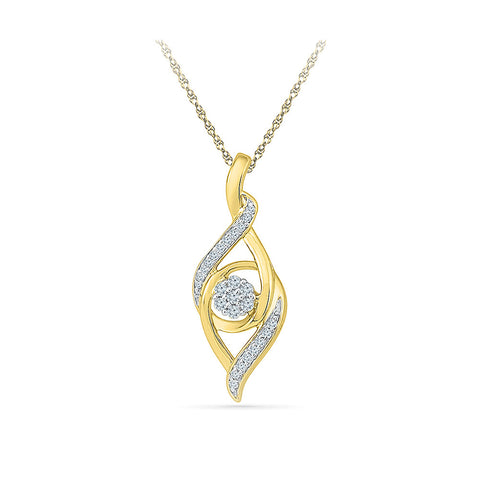 Diamond Pendant in 14kt and 18kt gold