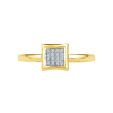 Square Elegance Everyday Diamond Ring