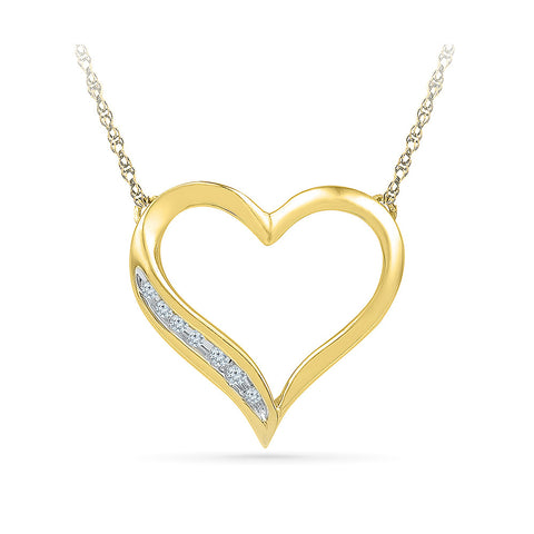 14k and 18k Gold Grand Heart Diamond Pendant in NICK setting online for women