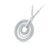 Circle in Circle Diamond Pendant