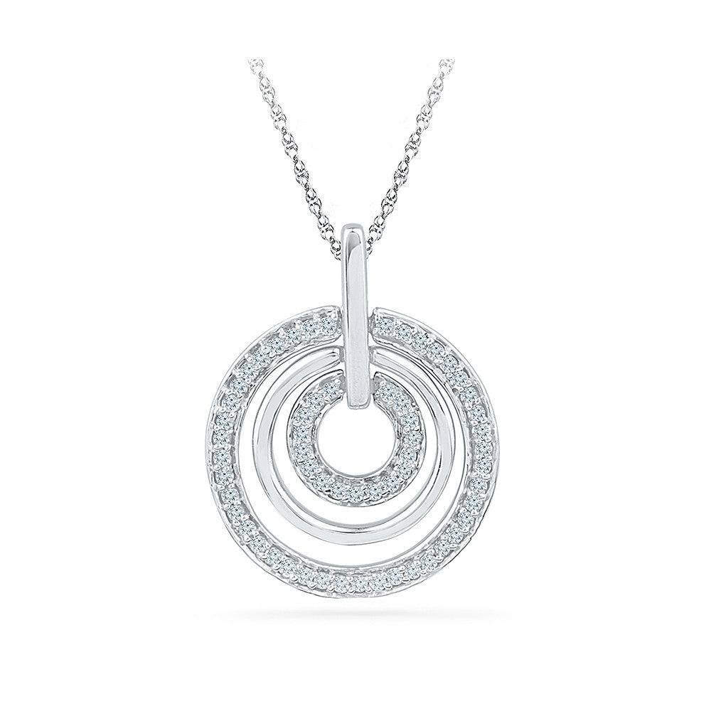 h gold jewellers diamond arctic three solitaire pendant circle baker white diamonds claw family t