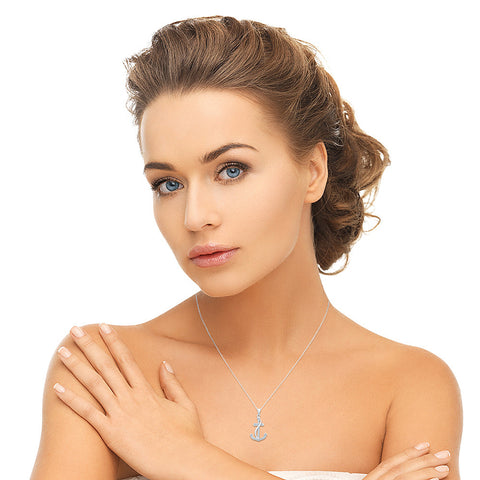 Alluring Anchor Diamond Pendant