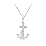 Alluring Anchor Diamond Pendant - Radiant Bay
