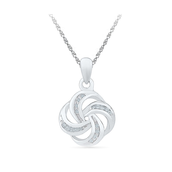 Swirl and Twirl Diamond Pendant in 14k and 18k Gold online for women