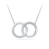 Lucent Dual Circle Diamond Necklace