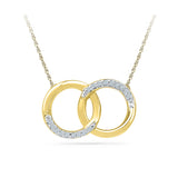 14k and 18k Gold Bond Forever Diamond Pendant  in Prong setting online for women