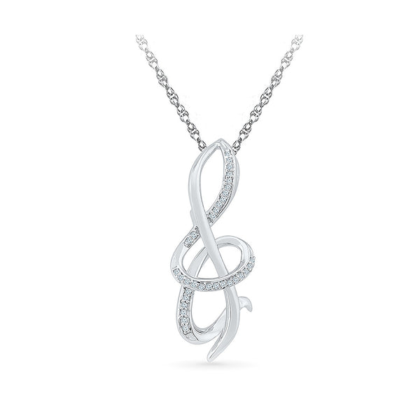 The Musical Note Diamond Pendant in 14k and 18k Gold online for women