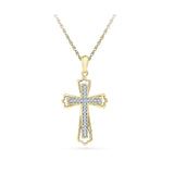 Savior Diamond Cross Pendant