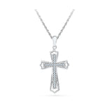 simple cross diamond pendant in 14k and 18k Gold online for women