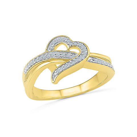 Designer Heart Diamond Ring