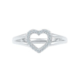 Bounteous Heart Diamond Midi Silver Ring