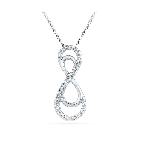 Double Infinity Diamond Pendant in 14k and 18k Gold online for women