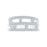 Pretty In Layers Diamond Cocktail Ring