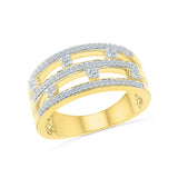 14kt / 18kt white and yellow gold Pretty In Layers Diamond Cocktail Ring for women online in PRONG setting