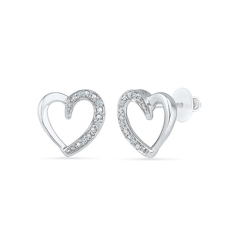 Interlude Heart Shape Earrings in 92.5 Sterling Silver for women online