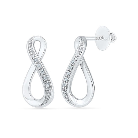 Everlasting Infinity Ladies' Earrings in 92.5 Sterling Silver for women online
