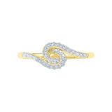 Swirl Spring Diamond Midi Ring