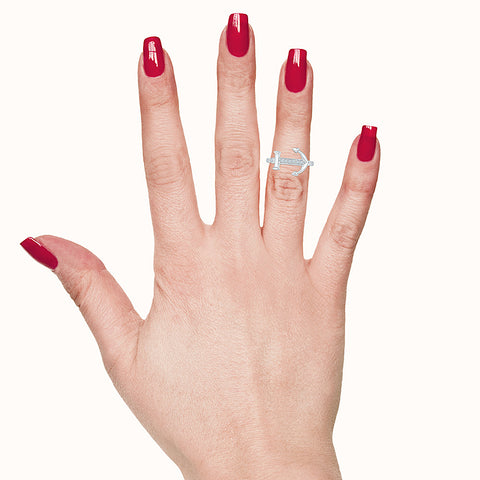 Anchor Adorns Diamond Midi Ring