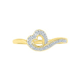 Flying Heart Diamond Midi Ring