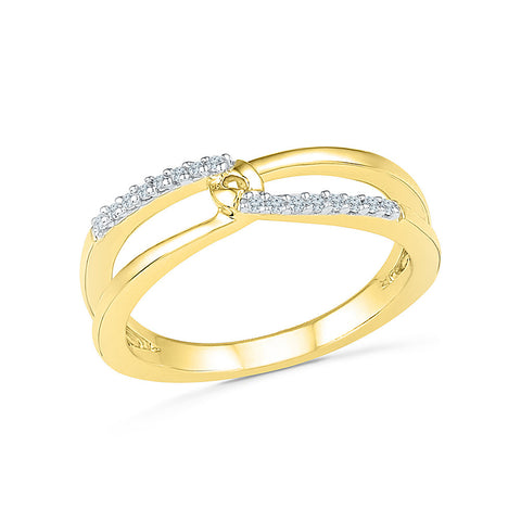 14kt / 18kt white and yellow gold Hold OF Two Diamond Midi Ring in Prong setting online for women