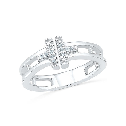 Chic Bound Diamond Midi Silver Ring