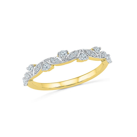 14kt / 18kt white and yellow gold Bloom of Spring Diamond Ring in PRONG for women online