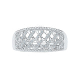 Flashy Filigree Diamond Cocktail Ring