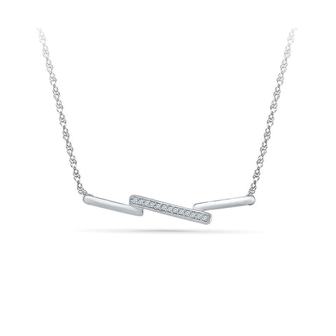 Bar Triad Diamond Necklace - Radiant Bay
