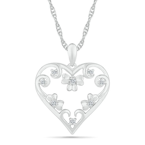 Flourishing Love Heart Pendant