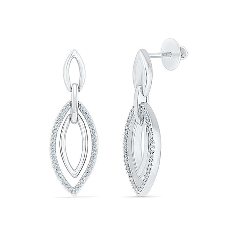 Diamond Trove Drop Earrings in 92.5 Sterling Silver for women online
