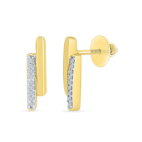 Happy Hours Diamond Ear Climbers in 14k and 18k gold