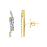 Gleaming Diamond Ear Climbers