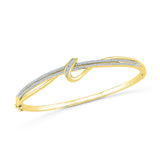 Buy gold everyday wear women's diamond bangle