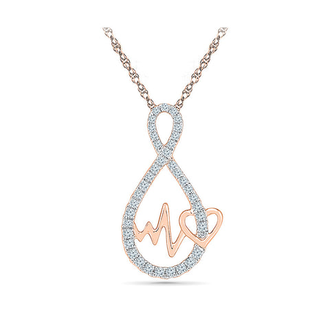 Valentine Forever in Love Diamond Pendant for women online in gold