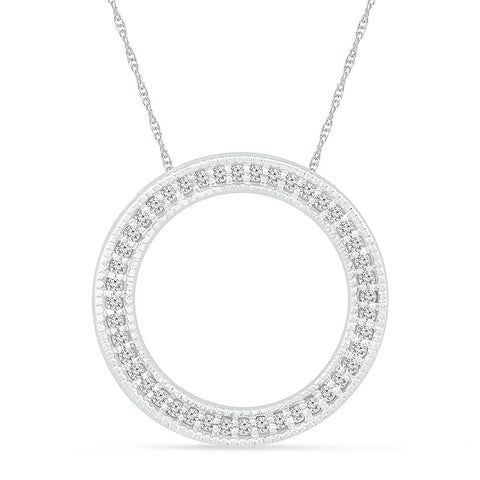 Abstract Circular Diamond Pendant