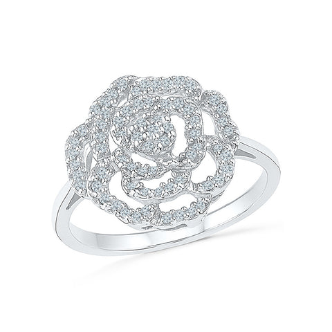 Blossom Lure Diamond Cocktail Ring - Radiant Bay