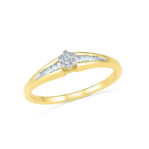 14kt / 18kt white and yellow gold Astonishing Diamond Engagement Ring in CHANNEL and PRONG for women online