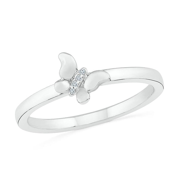 Sparkling Beauty Butterfly Ring